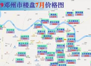 邓州市2019年7月最新房价地图已出炉
